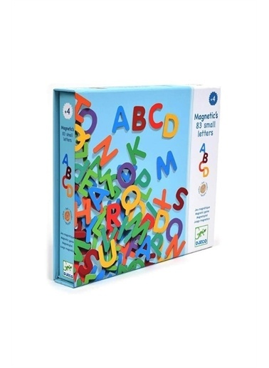 Djeco Djeco Mıknatıslı Oyunlar / 83 Small Magnetic Letters Pembe